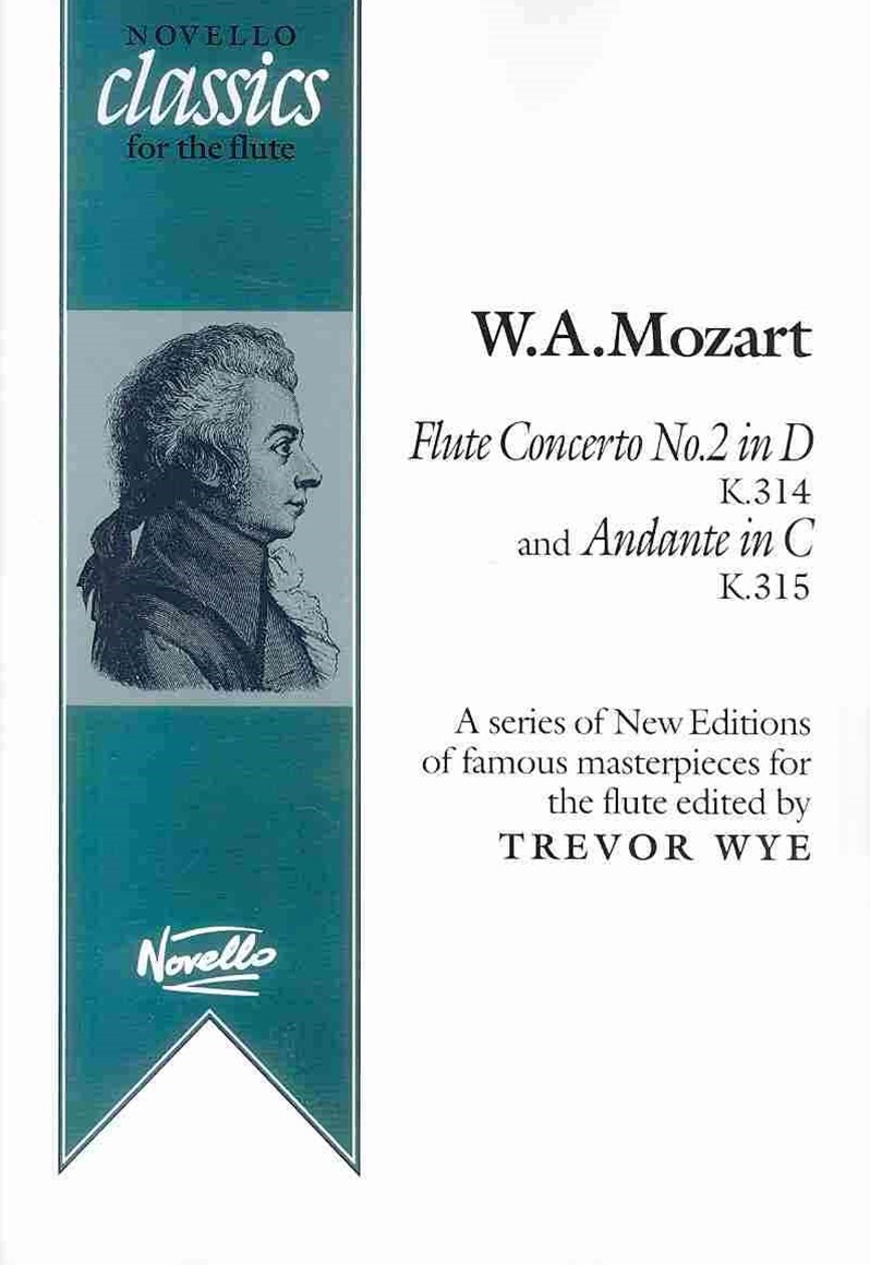 Mozart, WA Concerto No2 in D K314 and Andante in D K315 Flt/Pf