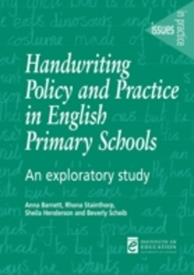 (ebook) Handwriting Policy and Practice in English Primary Schools
