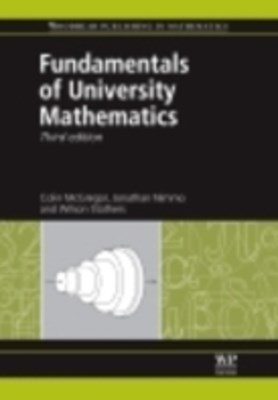 (ebook) Fundamentals of University Mathematics
