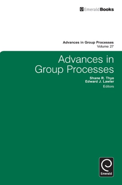 (ebook) Advances in Group Processes