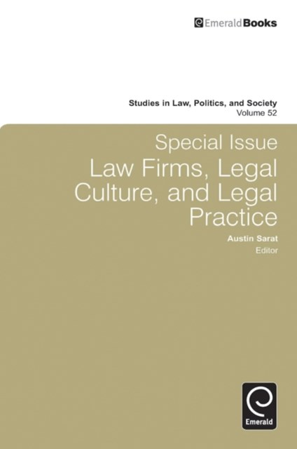 Special Issue: Law Firms, Legal Culture and Legal Practice