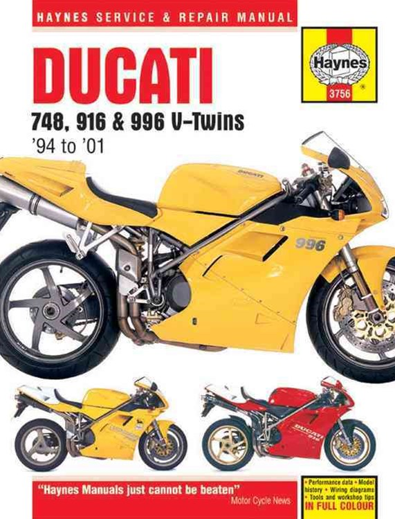 Ducati 748, 916 and 996 V-Twins '94 To '01
