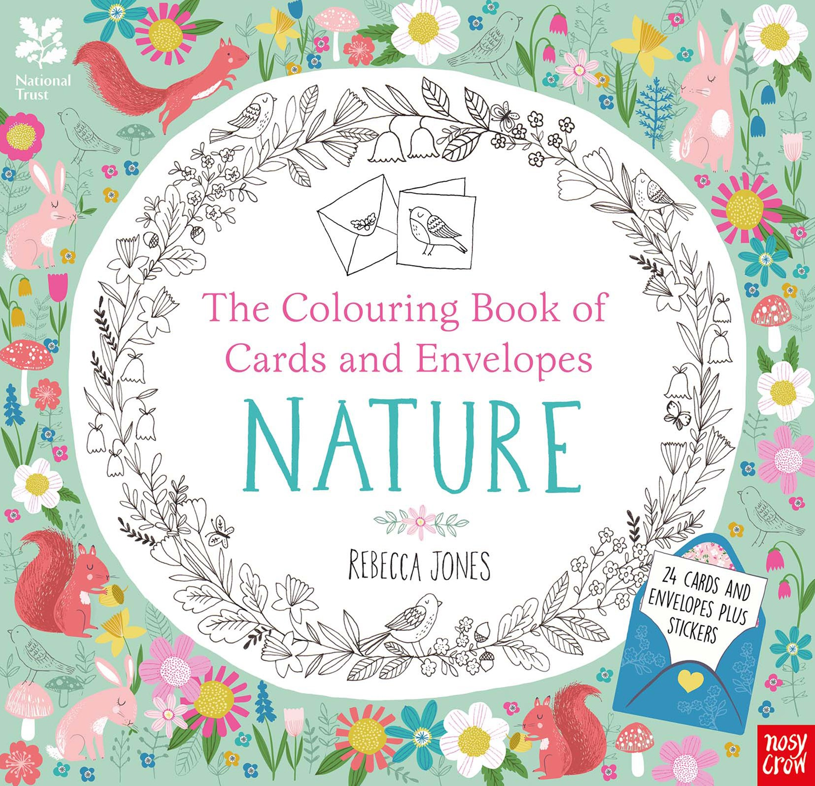 Colouring Cards and Envelopes - Nature