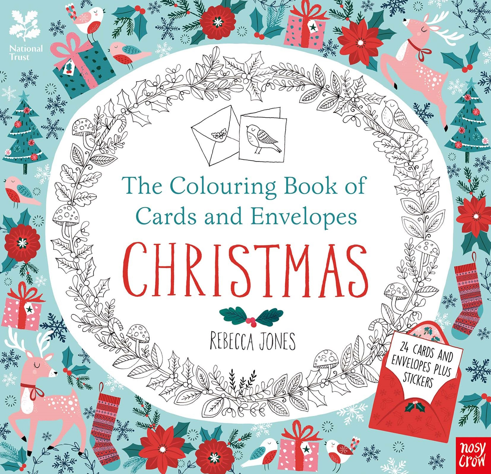 Colouring Cards and Envelopes - Christmas