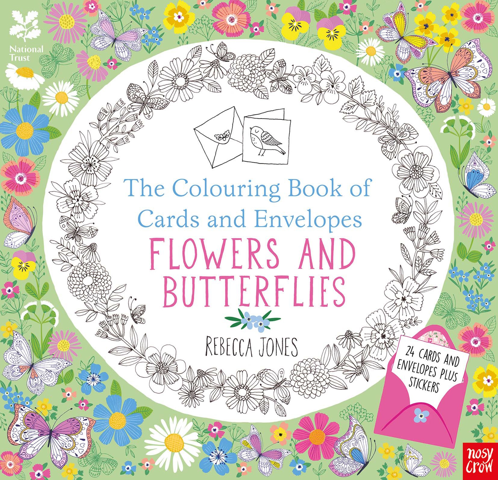 Colouring Cards and Envelopes -  Flowers and Butterflies