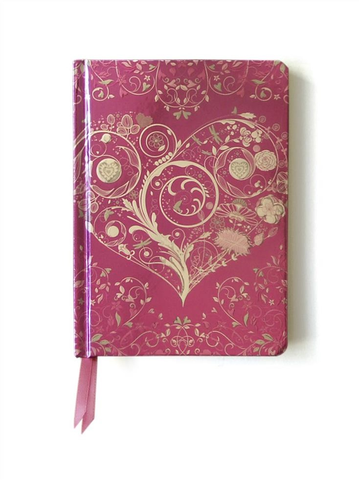 Contemporary Journal: Wild Pink Heart