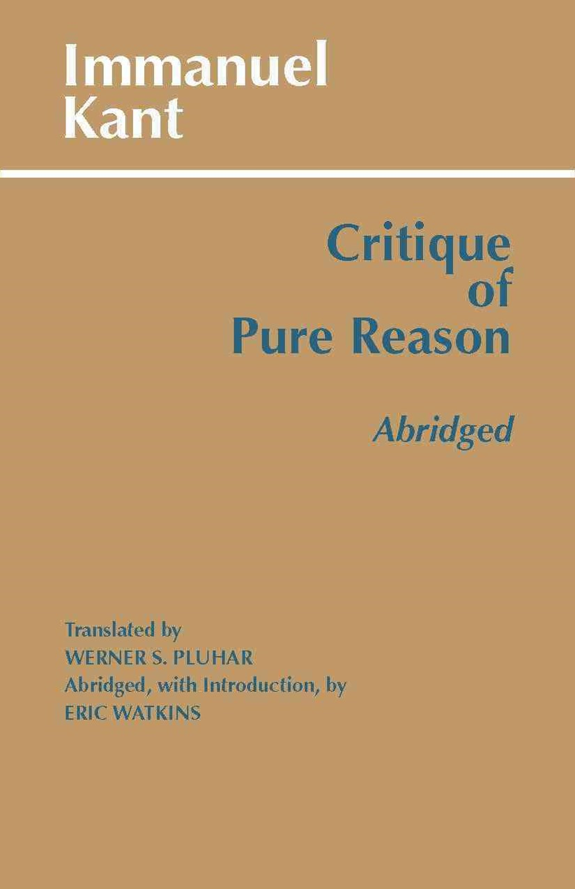 Critique of Pure Reason, Abridged