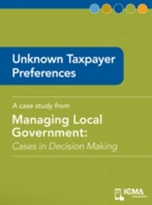 Unknown Taxpayer Preferences