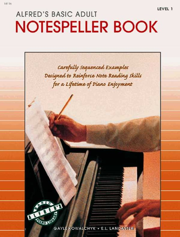 Alfred's Basic Adult Piano Course Notespeller