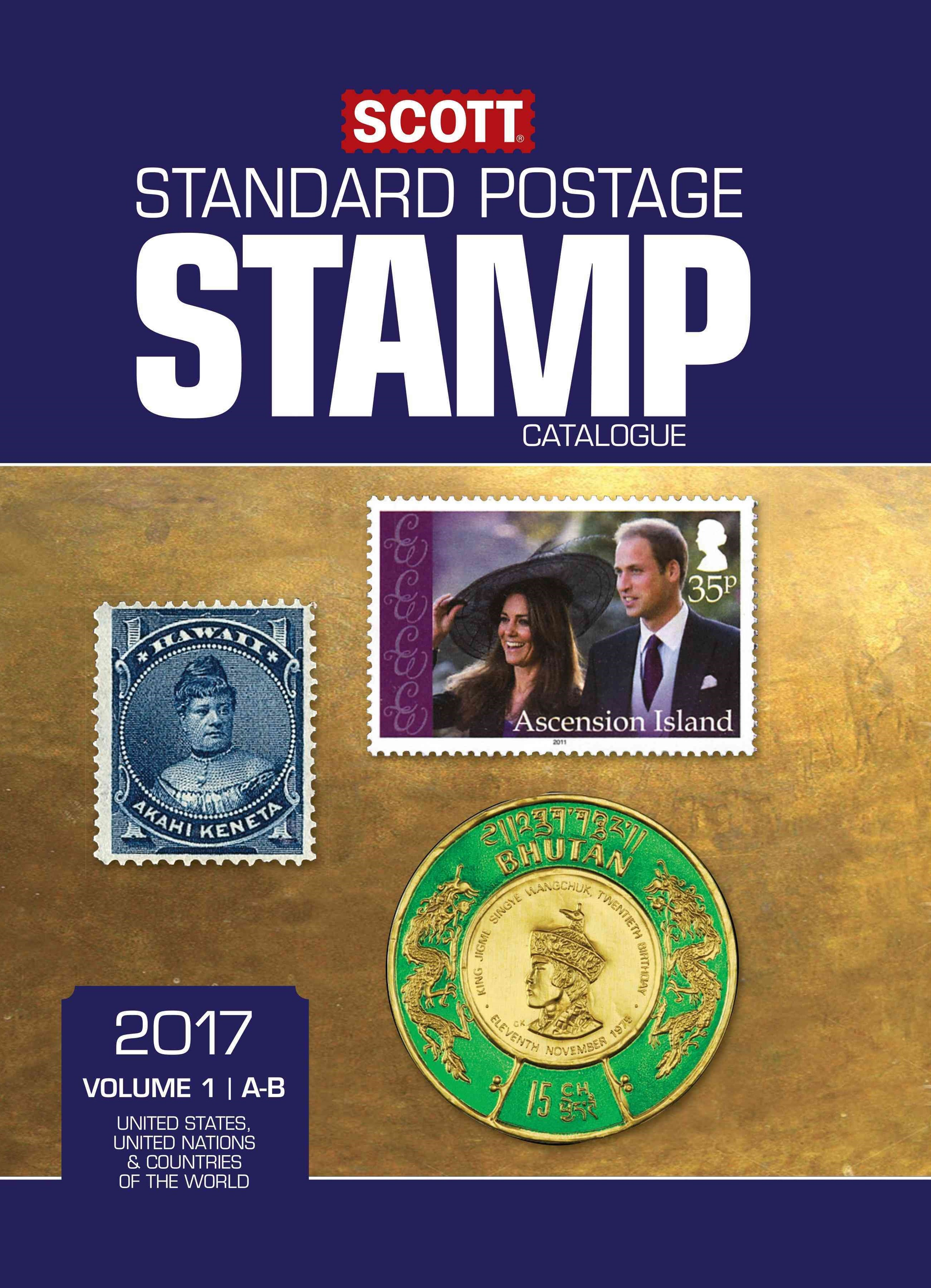 Scott 2017 Standard Postage Stamp Catalogue, Volume 1
