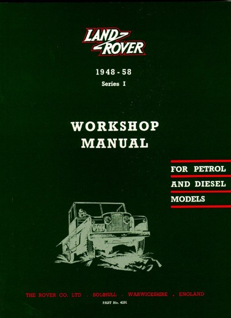 Land Rover Series I Workshop Manual