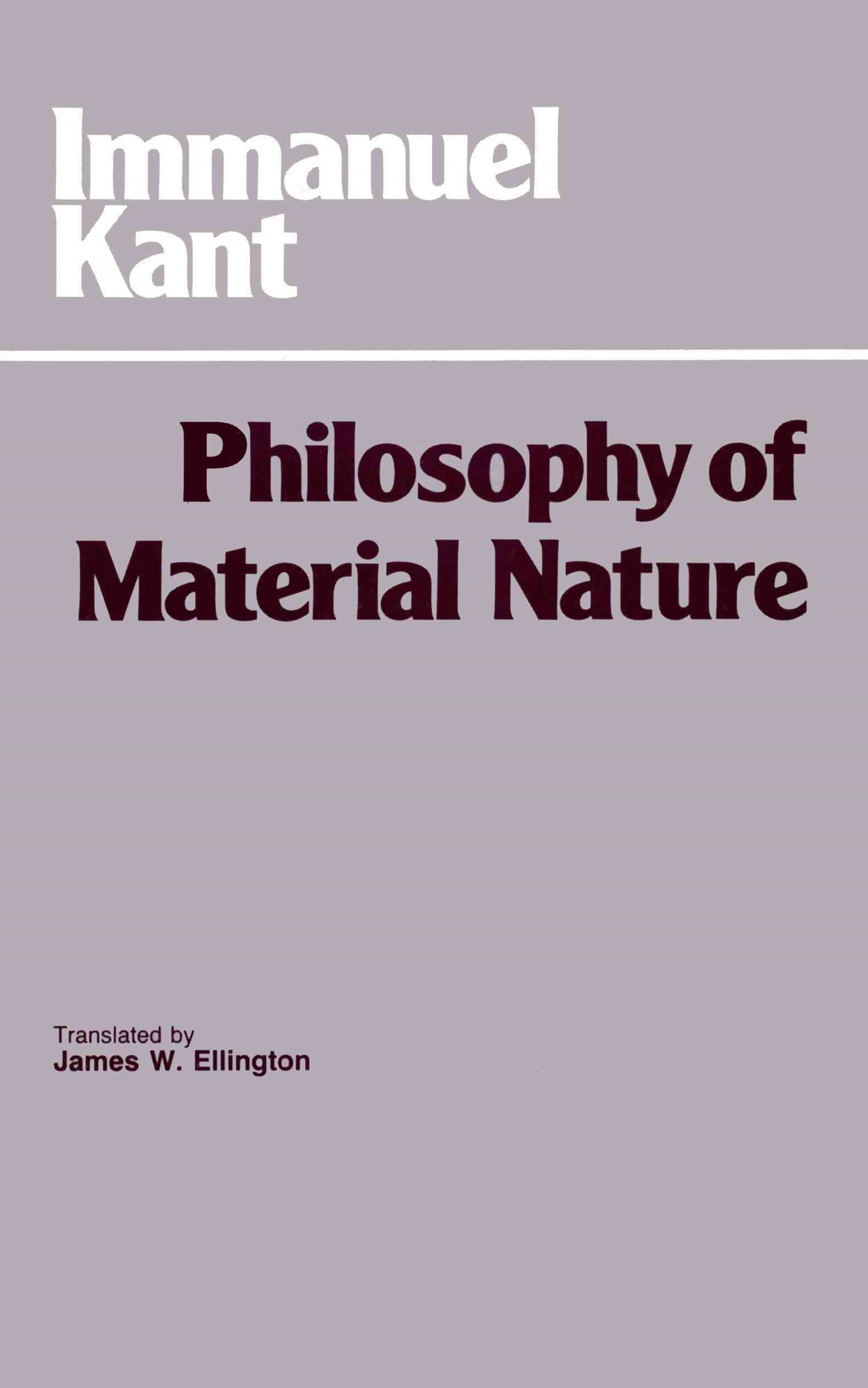 Philosophy of Material Nature