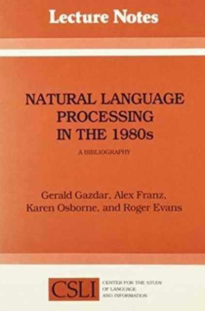 Natural Language Processing in the 1980s