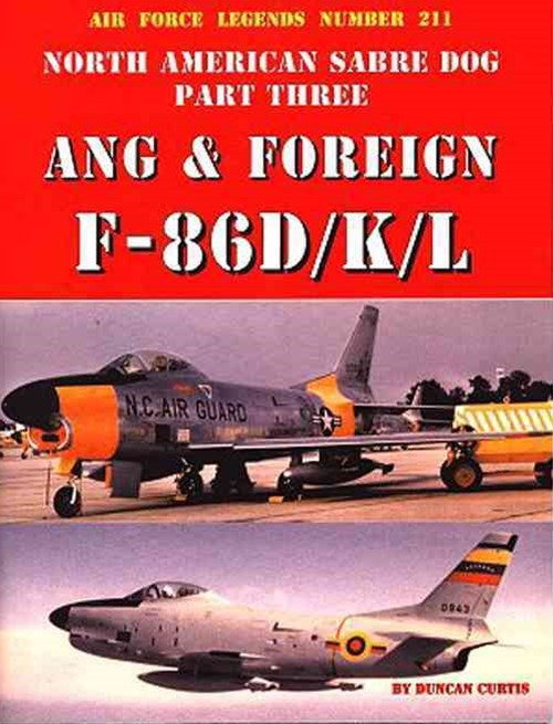 North American Sabre Dog ANG and Foreign F-86D/K/L