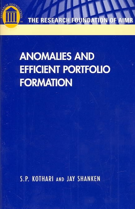 Anomalies and Efficient Portfolio Formation
