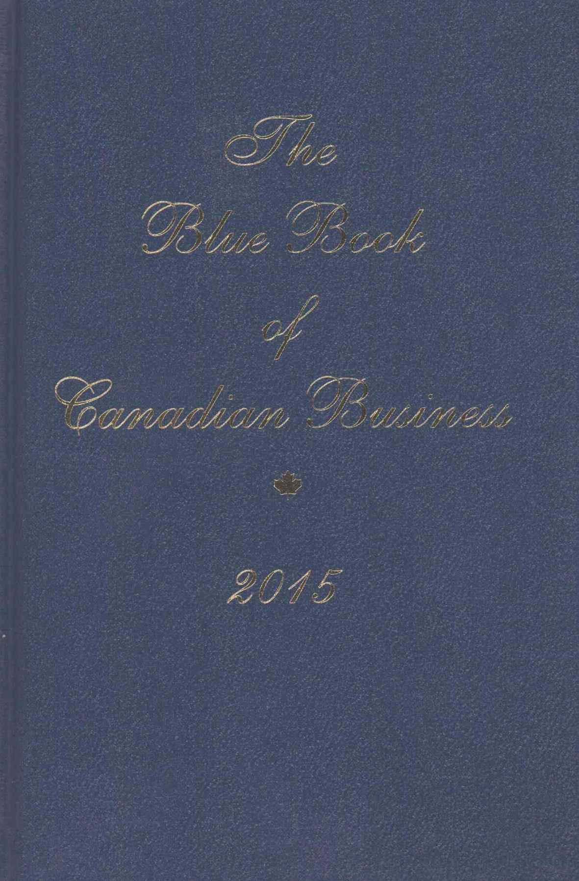 The Blue Book of Canadian Business 2015