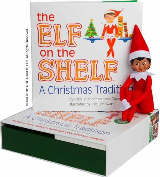 The Elf on the Shelf: A Christmas Tradition - Girl Dark Skin