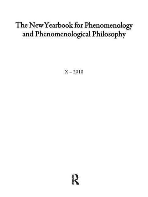 The New Yearbook for Phenomenology and Phenomenological Philosophy 2002