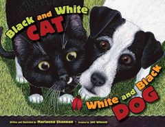 Black and White Cat, White and Black Dog