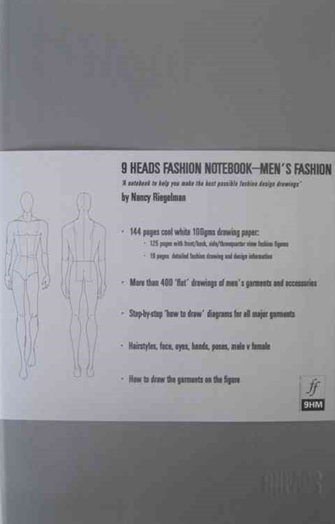 9 Heads Fashion Notebook: Men
