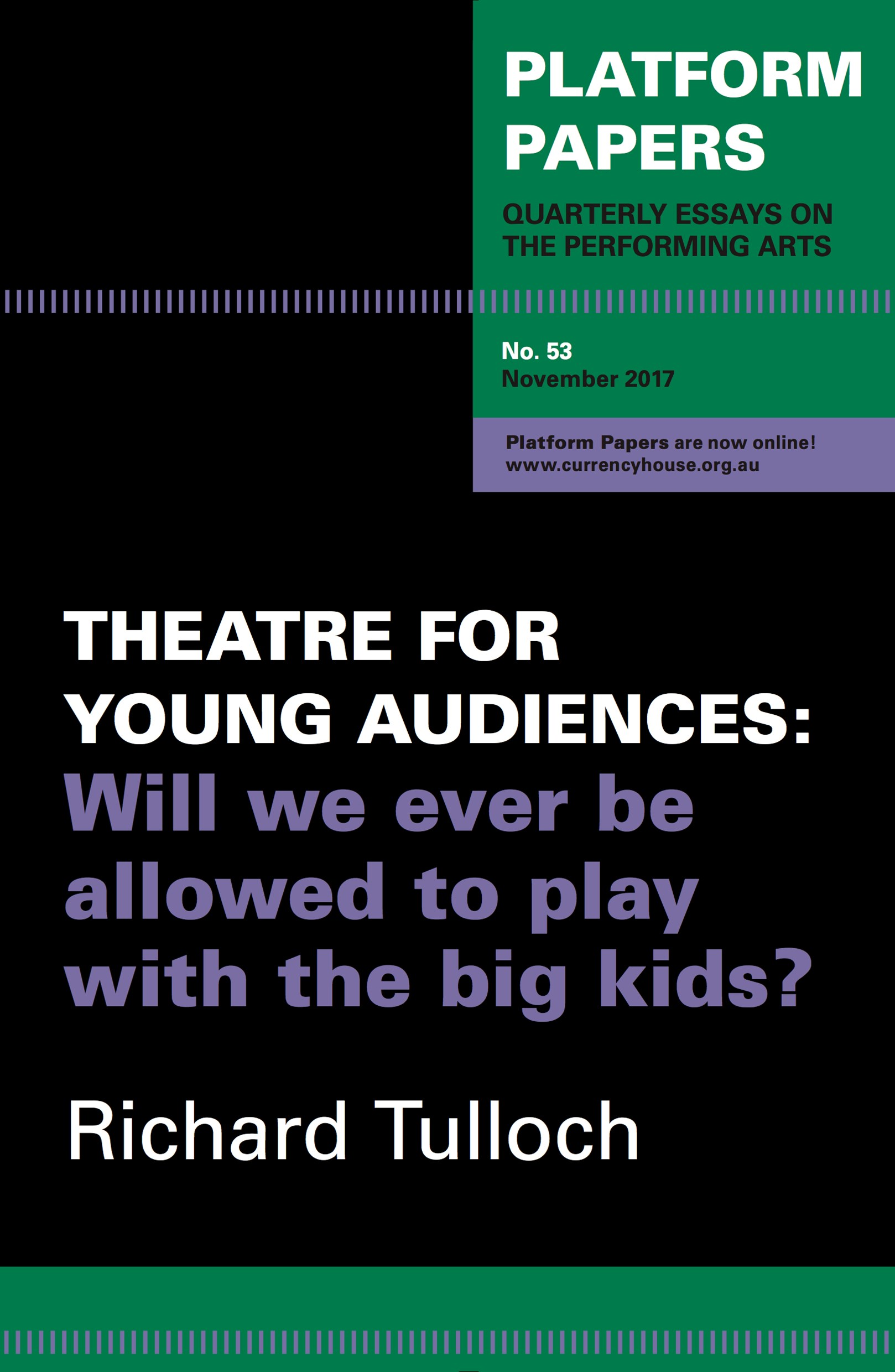 Platform Papers 53 - Theatre for Young Audiences