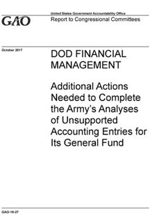 Dod Financial Management by U S Government Accountability Offi Gao (9781072508762) - PaperBack - Art & Architecture General Art
