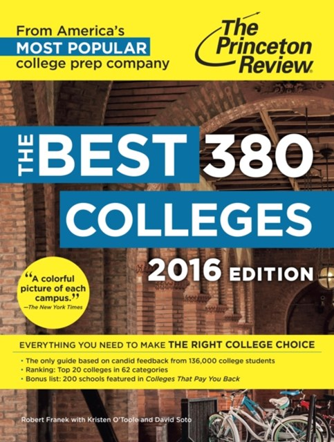 Best 380 Colleges, 2016 Edition