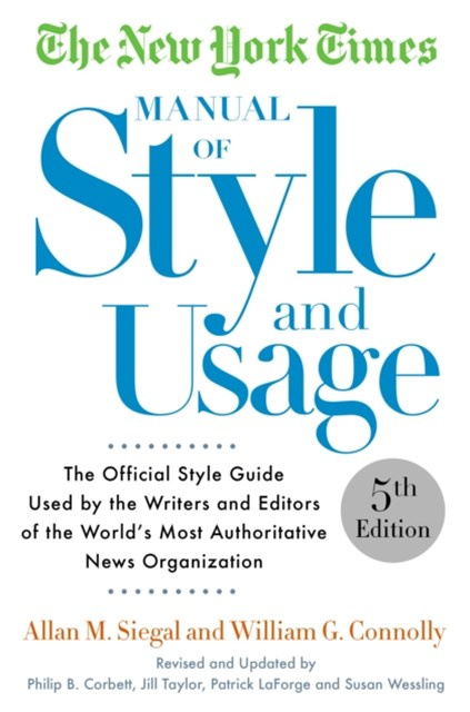 New York Times Manual of Style and Usage, 5th Edition