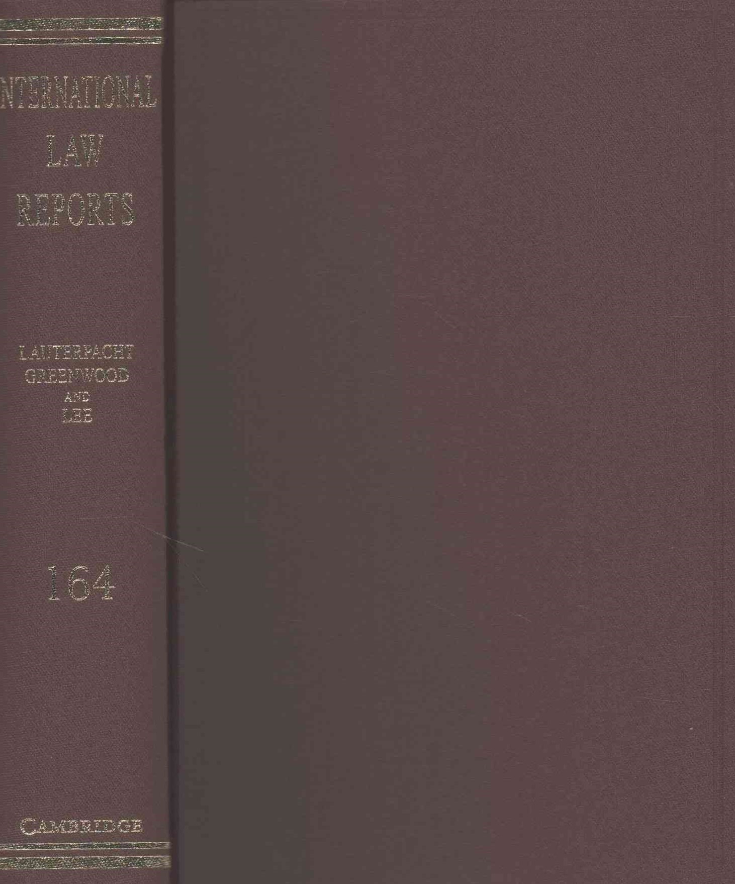 International Law Reports: Volume 164
