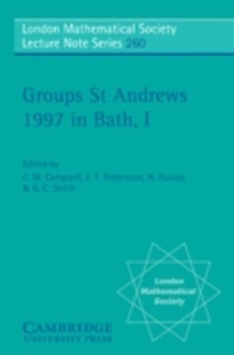 Groups St Andrews 1997 in Bath: Volume 1
