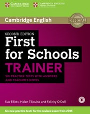 First for Schools Trainer Six Practice Tests with Answers and Teachers Notes with Audio