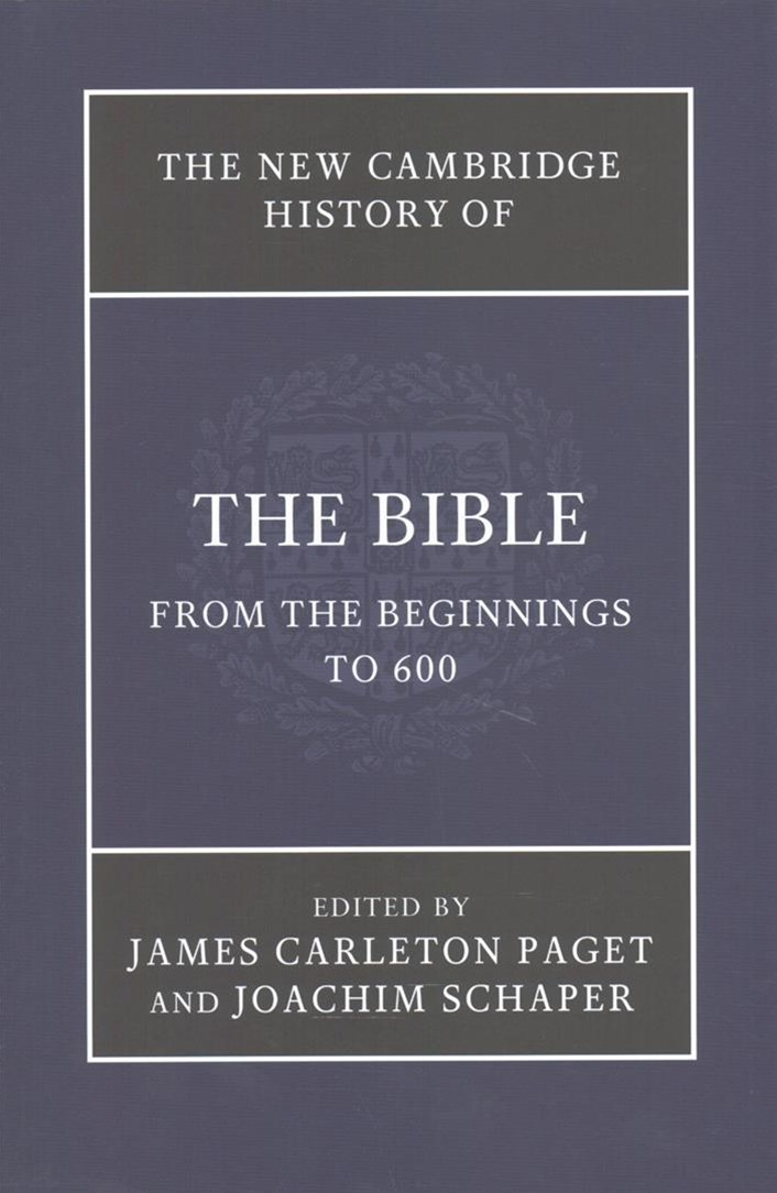 The New Cambridge History of the Bible 4 Volume Set