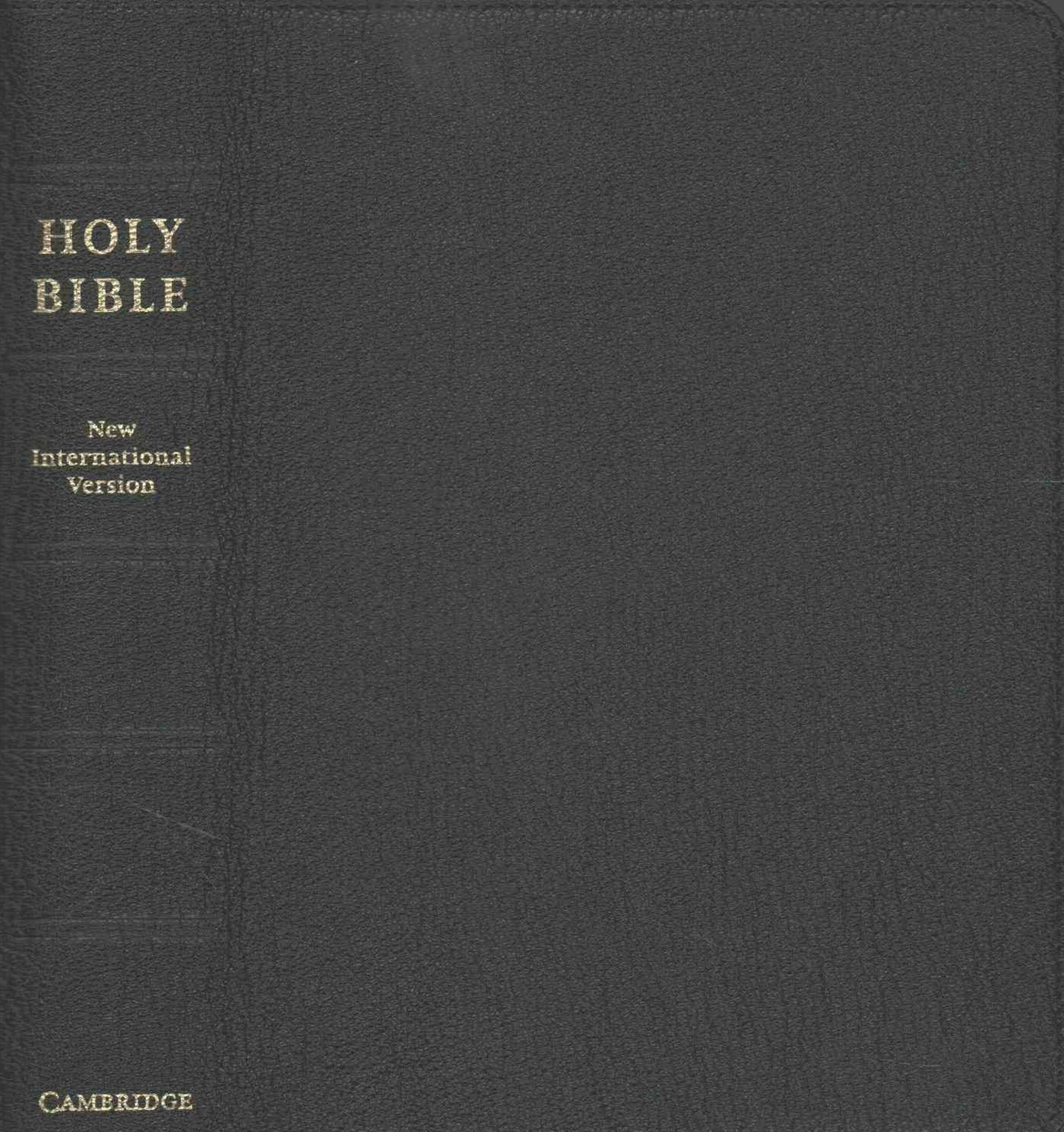 NIV Clarion Reference Bible, Black Edge-lined Goatskin Leather, NI486:XE