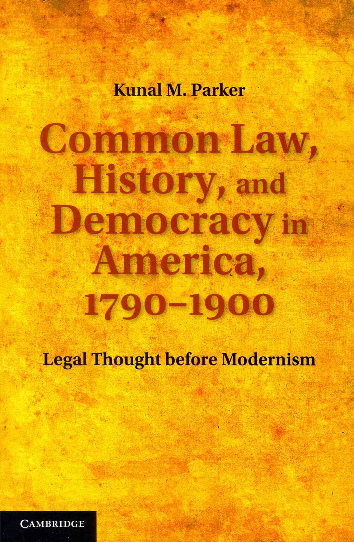 Common Law, History, and Democracy in America, 1790–1900