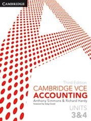 Cambridge VCE Accounting Units 3 and 4 Bundle