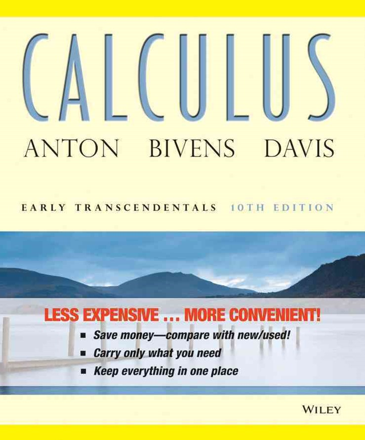 Calculus Early Transcendentals 10E Binder Ready Version + WileyPlus Standalone Registration Card
