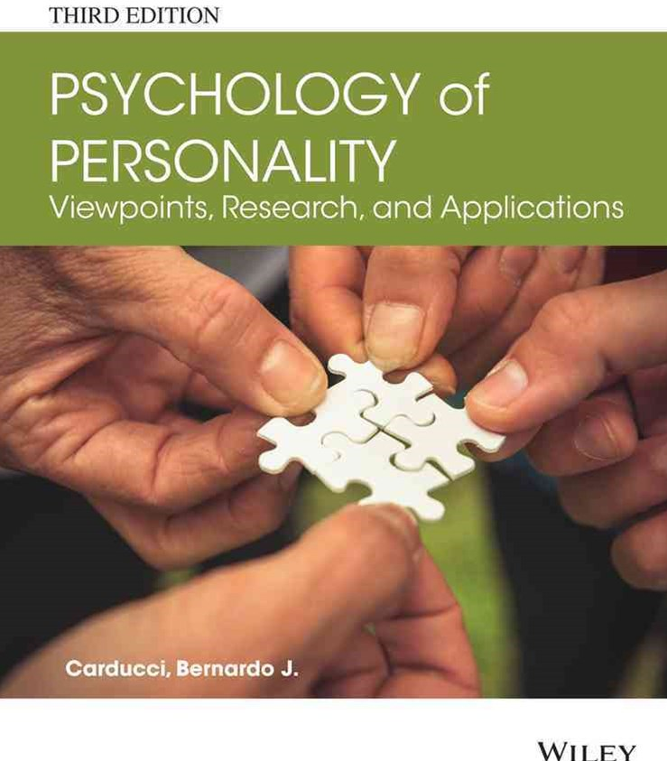 Psychology of Personality - Viewpoints, Research, and Applications 3E