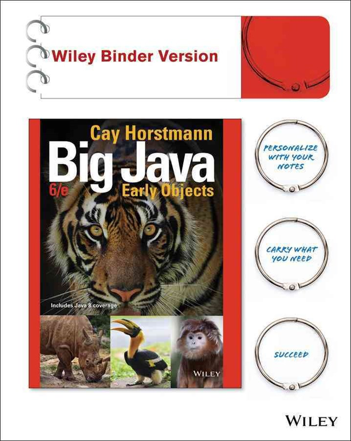 Big Java 6E Binder Ready Version
