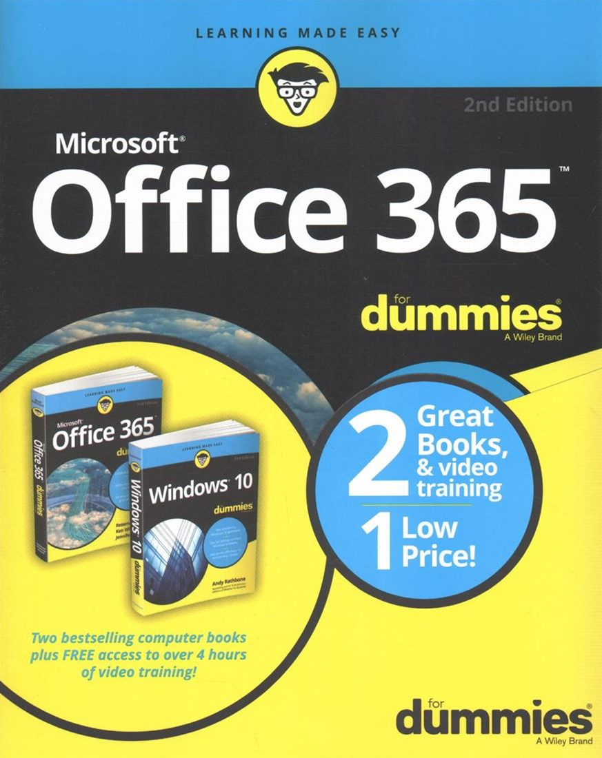 Windows 10 / Office 365 for Dummies Book+video Bundle