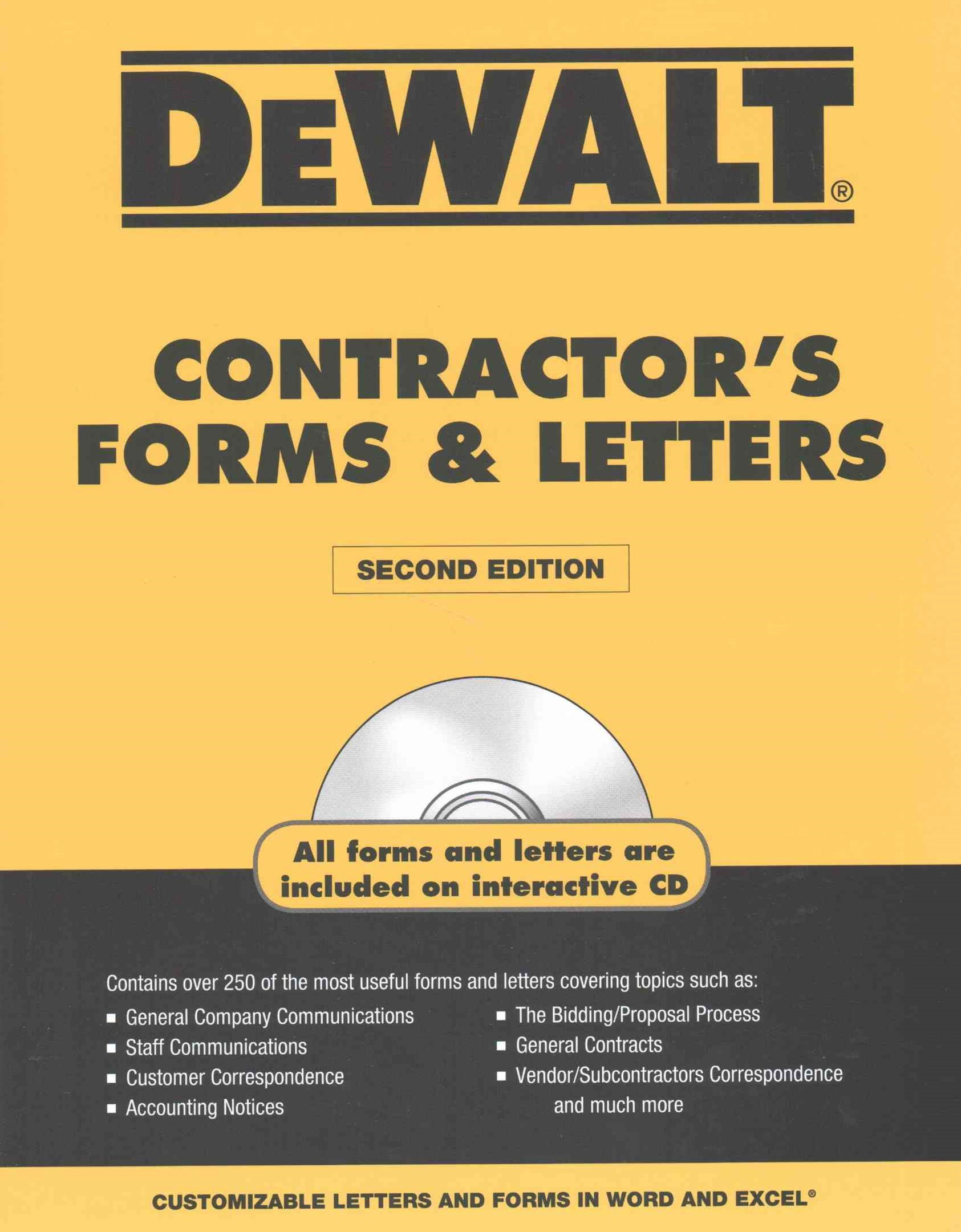 DEWALT-« Contractor's Forms and Letters
