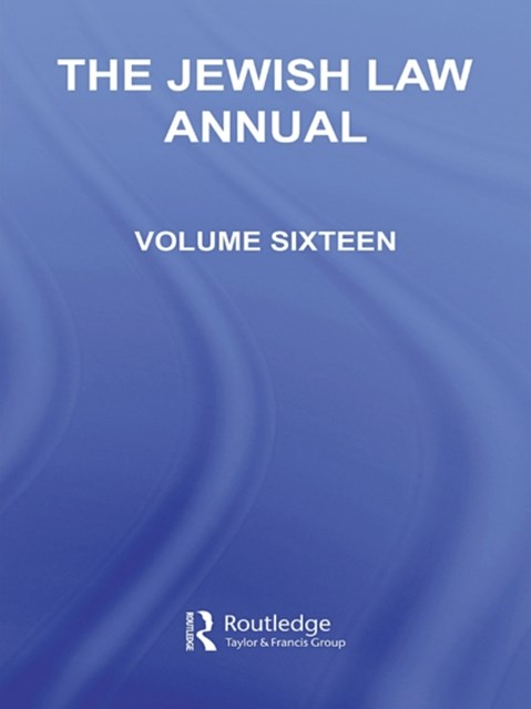 The Jewish Law Annual Volume 16