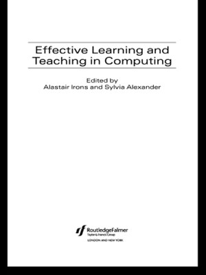 (ebook) Effective Learning and Teaching in Computing