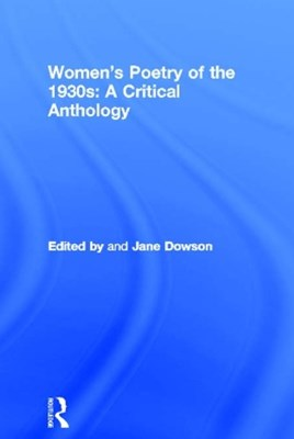 (ebook) Women's Poetry of the 1930s: A Critical Anthology