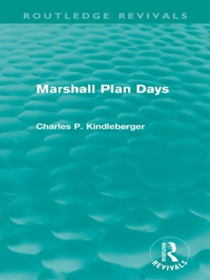 (ebook) Marshall Plan Days (Routledge Revivals)
