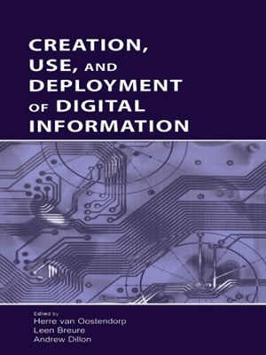 (ebook) Creation, Use, and Deployment of Digital Information