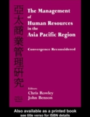 Management of Human Resources in the Asia Pacific Region