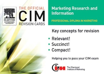 CIM Revision Cards 05/06: Marketing Research and Information