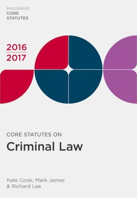 (ebook) Core Statutes on Criminal Law 2016-17