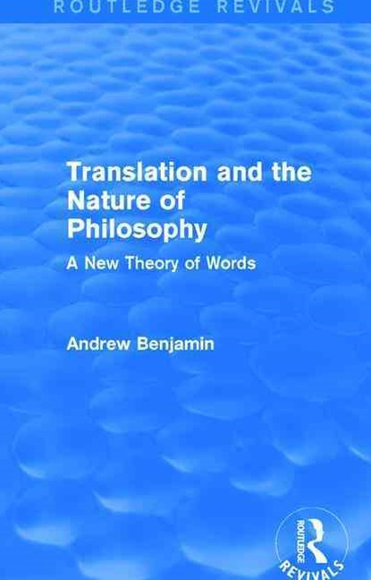 Translation and the Nature of Philosophy