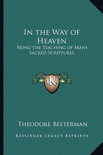 In the Way of Heaven by Theodore Besterman (9781162756653) - PaperBack - Modern & Contemporary Fiction Literature
